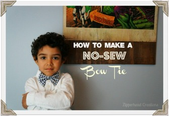 how to make a no sew bow tie