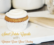 Sweet potato cupcake, cinnamon cream cheese frosting