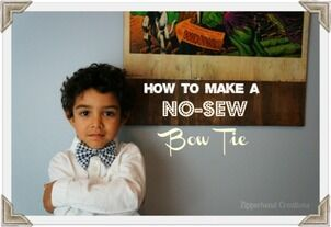 Bowtie, No Sew Bowtie, Children's Clothing