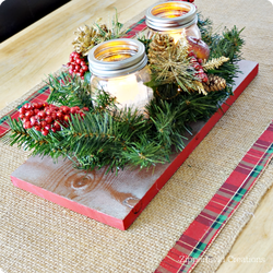 Budget Friendly Christmas Centerpiece