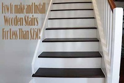 How to Make and Install Wooden Stairs on a Budget