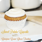 Sweet potato cupcake with cinnamon cream cheese frosting