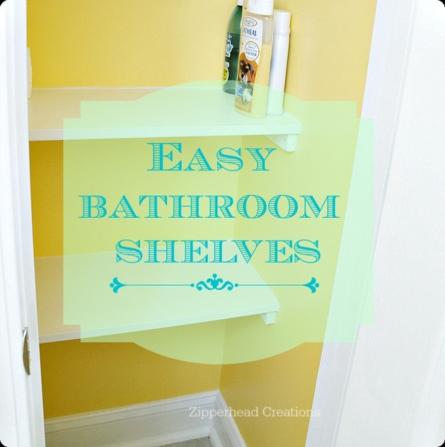 Bathroom shelving diy
